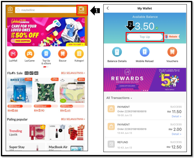 Lazada Wallet Instant Cashback Easy Refunds And 7 Eleven Top Ups