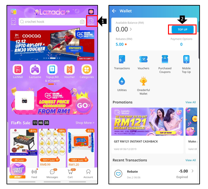How Do I Use Cash To Top Up My Lazada Wallet At Retail Stores