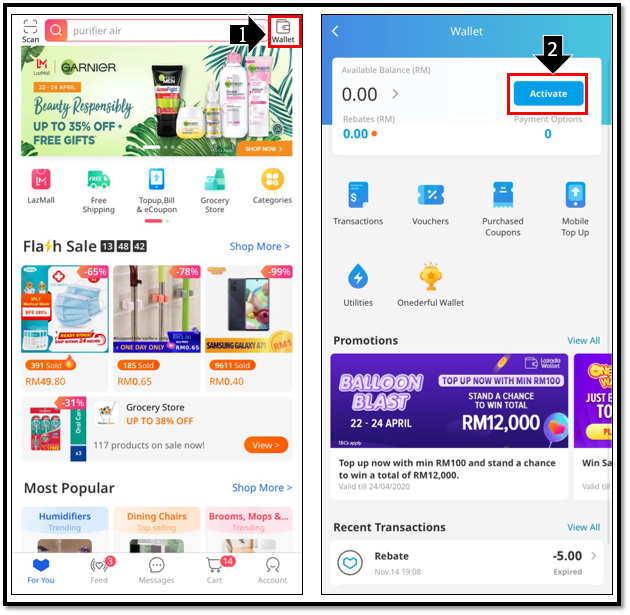What Is Lazada Wallet And How Do I Activate It