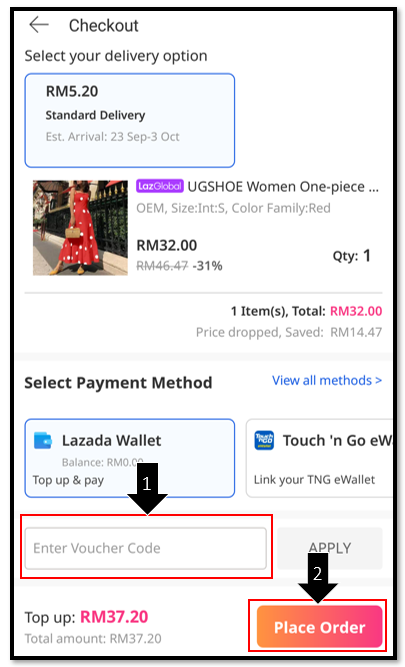 How do I use vouchers on Lazada?